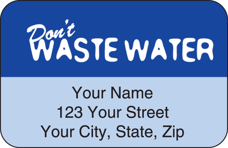 Water Wise Address Labels - click to view larger image