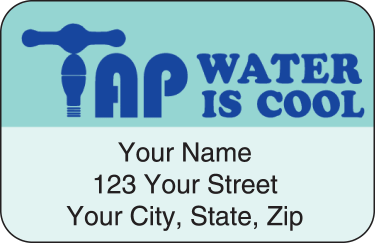water wise address labels - click to preview