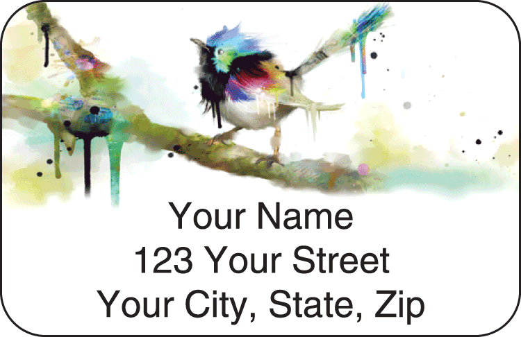 Watercolor Birds Address Labels - click to preview