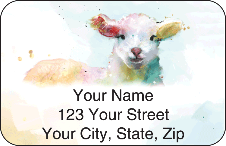 watercolor farm address labels - click to preview