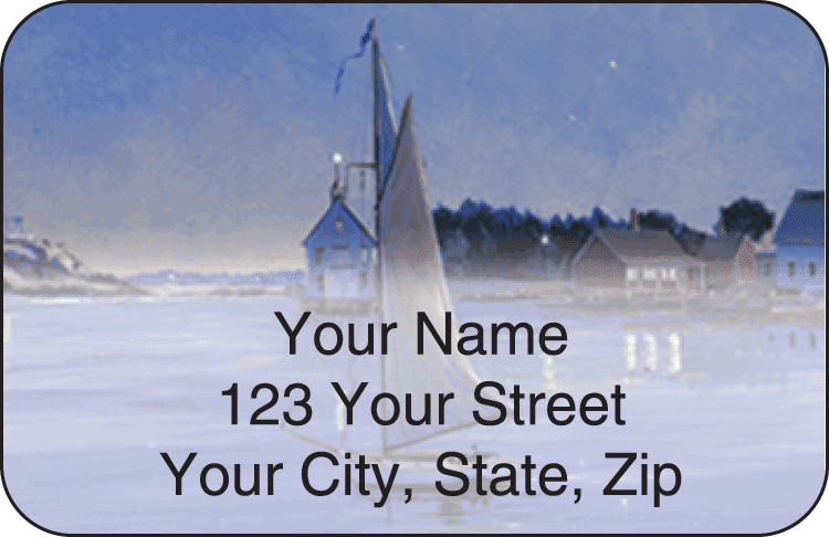 Water's Edge Address Labels - click to view larger image