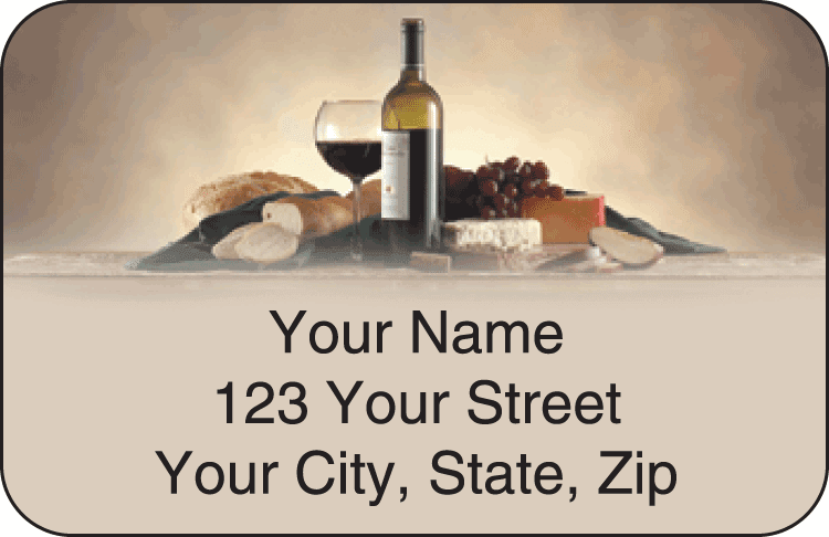 wine lover address labels - click to preview