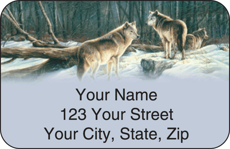 wolves address labels - click to preview