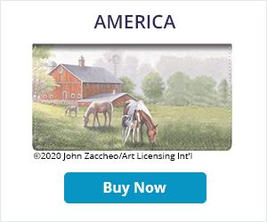 America Leather Checkbook Cover