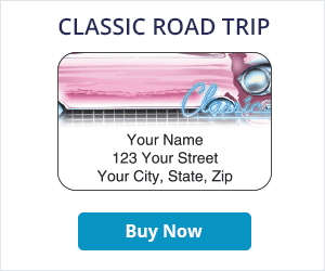 Classic Road Trip Address Labels