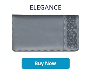 Elegance Leather Checkbook Cover