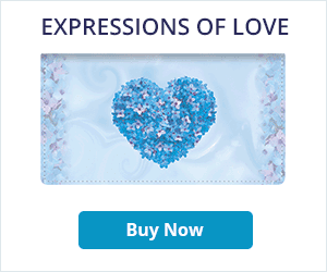 Expressions of Love Leather Checkbook Cover
