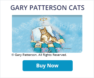 Gary Patterson Cats Leather Checkbook Cover