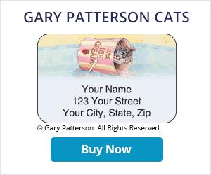 Gary Patterson Cats Address Labels