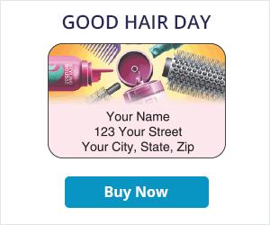 Good Hair Day Address Labels