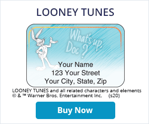 Looney Tunes Address Labels