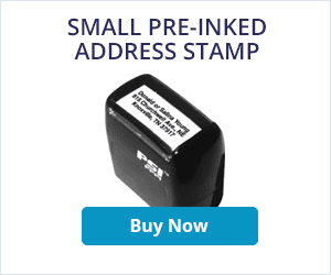 Small Pre-Inked Address Stamper