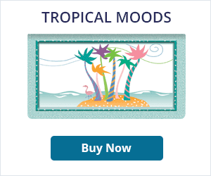 Tropical Moods Leather Checkbook Cover