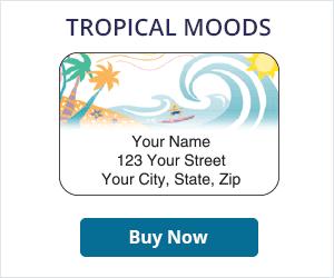 Tropical Moods Address Labels