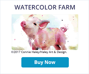 Watercolor Farm Checkbook Cover