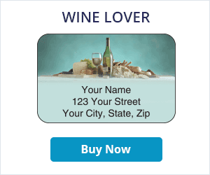 Wine Lover Address Labels