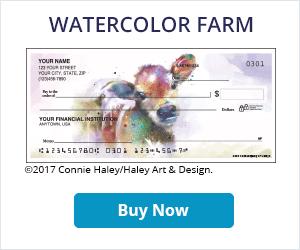 Watercolor Farm Checks