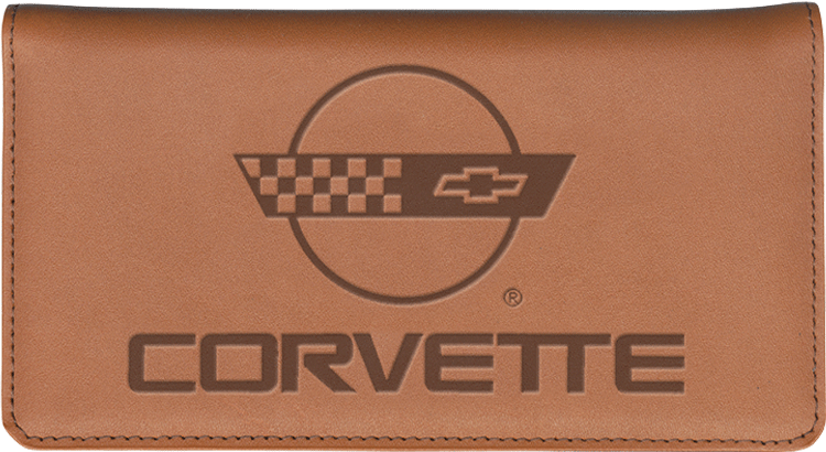 Corvette History Leather Checkbook Cover