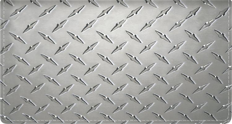 Diamond Plate Leather Checkbook Cover