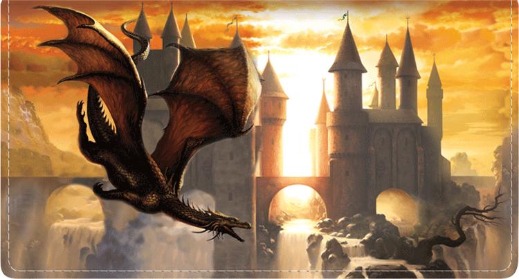 Dragons by Ciruelo Fabric Checkbook Cover