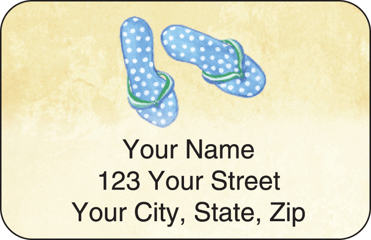 Flip Flops Address Labels
