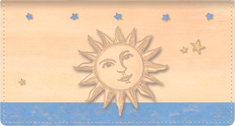 Sun & Moon Fabric Checkbook Cover