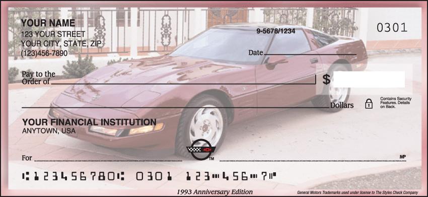Corvette History Checks - 1 box - Singles
