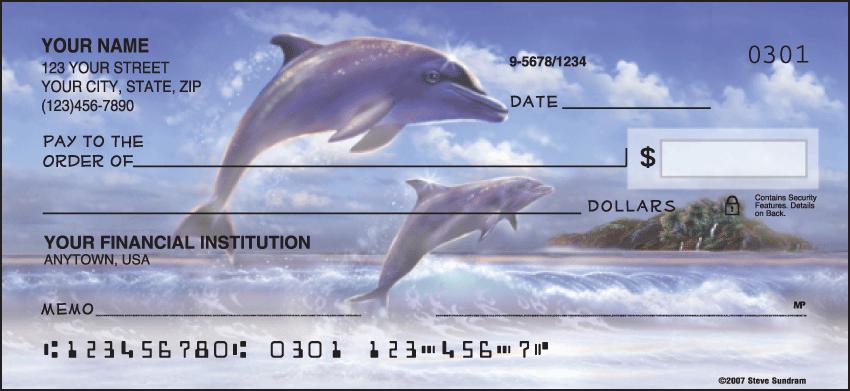 Dolphins Checks - 1 box - Singles