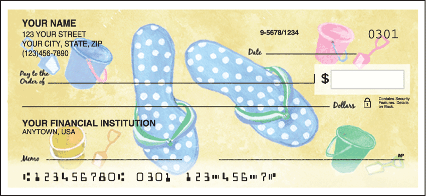 Flip Flops Checks - 1 box - Singles