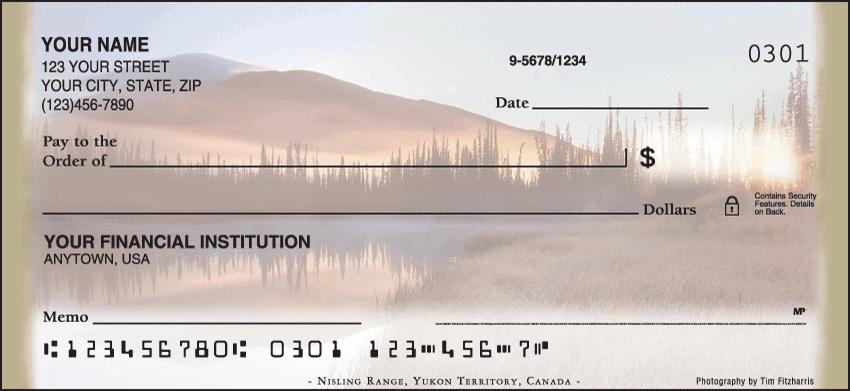 Mountain Reflections Checks - 1 box - Duplicates